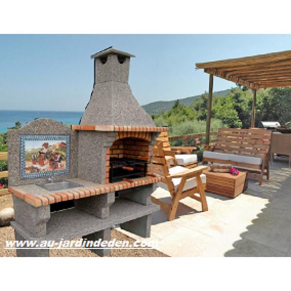 barbecue en briques et pierre ff 301a au jardin d 39 eden. Black Bedroom Furniture Sets. Home Design Ideas