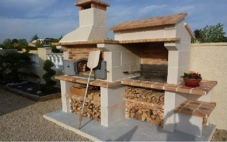 barbecue en pierre naturelle latest antique looking summer kitchen carved in french limestone. Black Bedroom Furniture Sets. Home Design Ideas