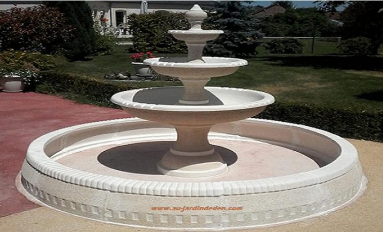 fontaine rond en pierre pour jardin nancy au jardin d 39 eden. Black Bedroom Furniture Sets. Home Design Ideas