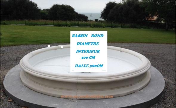 Bassin en pierre reconstituee rond au jardin d 39 eden - Bassin pierre prix boulogne billancourt ...