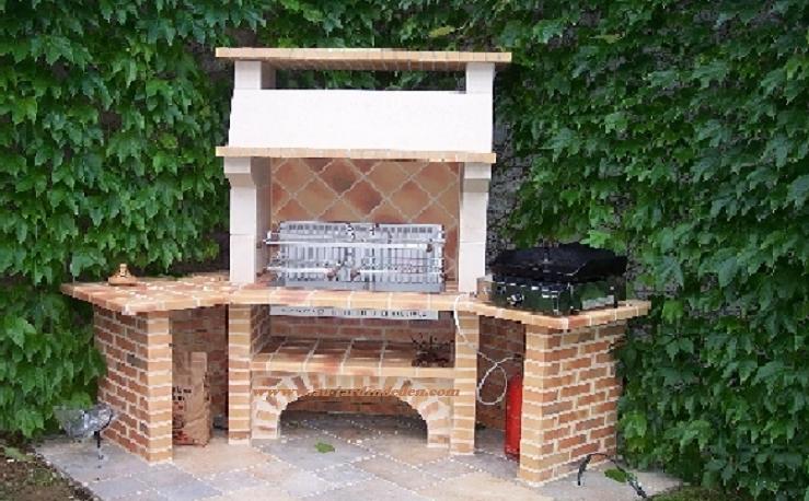 Barbecue d angle en briques l j 40 bis au jardin d 39 eden for Barbecue d angle en brique