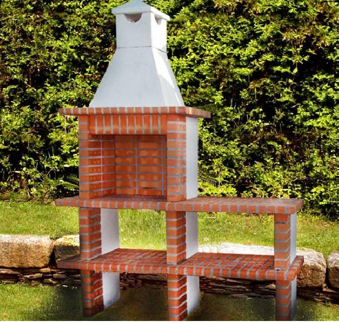 Barbecue en brique refractaire ludo 1255a au jardin d 39 eden for Barbecue en brique refractaire neuf