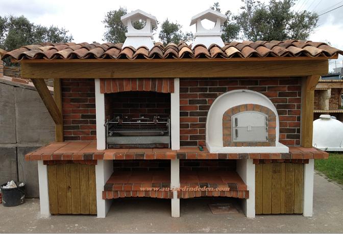 Barbecue et four en briques rouge l j 91a au jardin d 39 eden for Barbecue en brique refractaire neuf