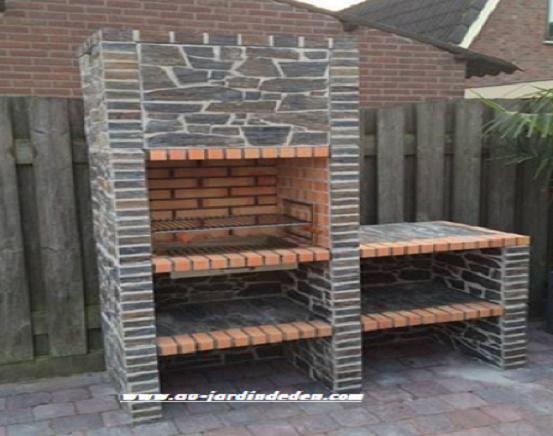 barbecue en pierre 201a au jardin d 39 eden. Black Bedroom Furniture Sets. Home Design Ideas