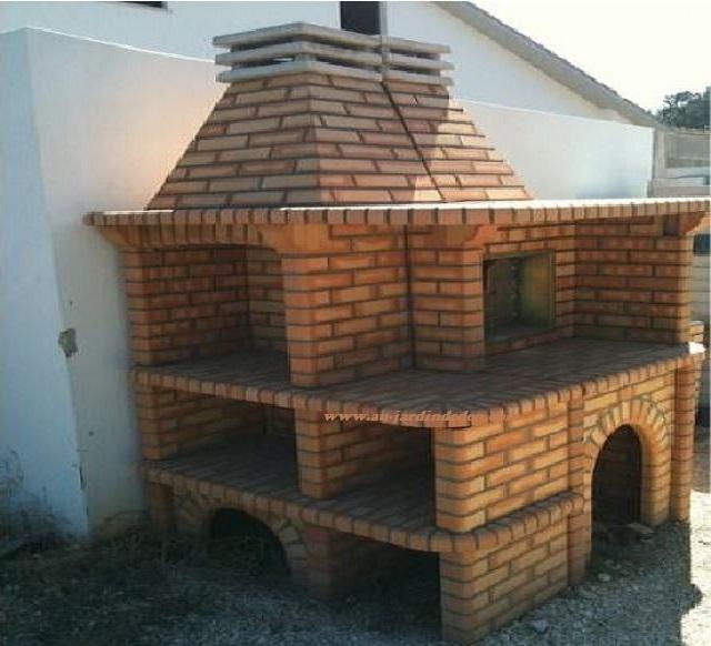barbecue et four a bois en brique refractaire ff ilea au. Black Bedroom Furniture Sets. Home Design Ideas