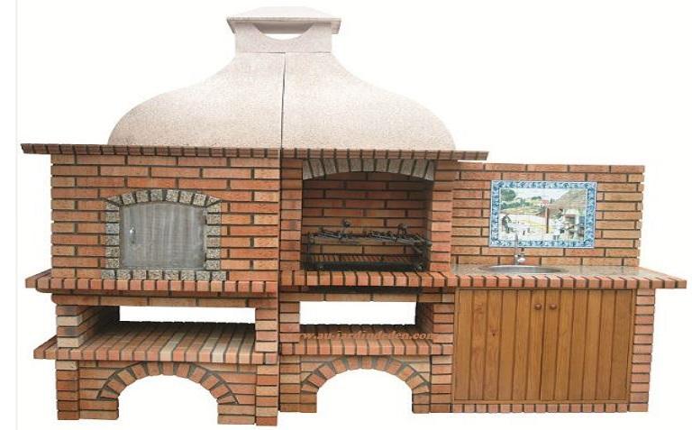 barbecue et four a pain en brique refractaire ludo ff 902a au jardin d 39 eden. Black Bedroom Furniture Sets. Home Design Ideas