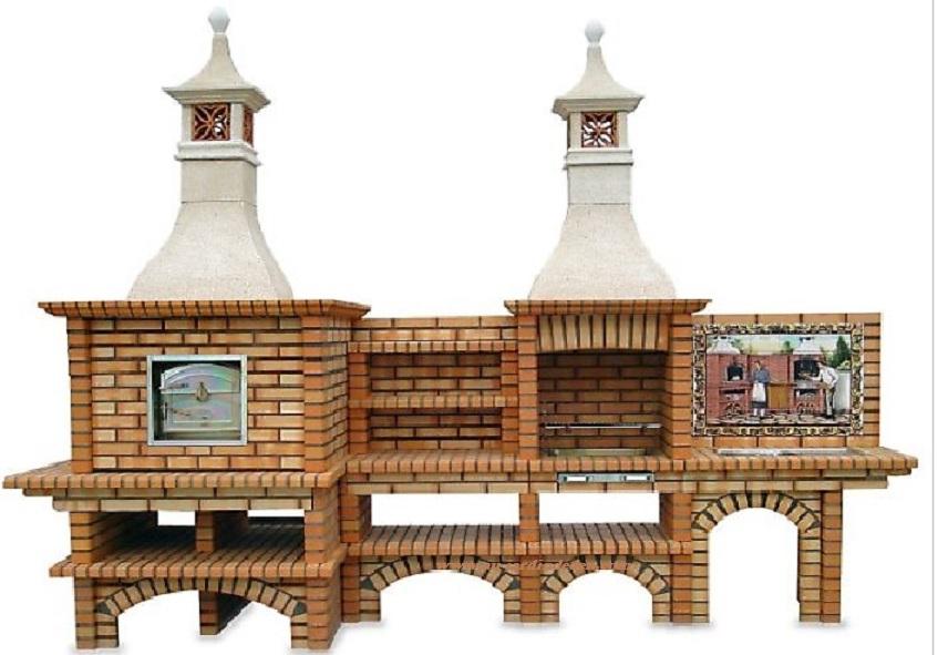 barbecue et four a pizza en brique refractaire ludo b2524a. Black Bedroom Furniture Sets. Home Design Ideas
