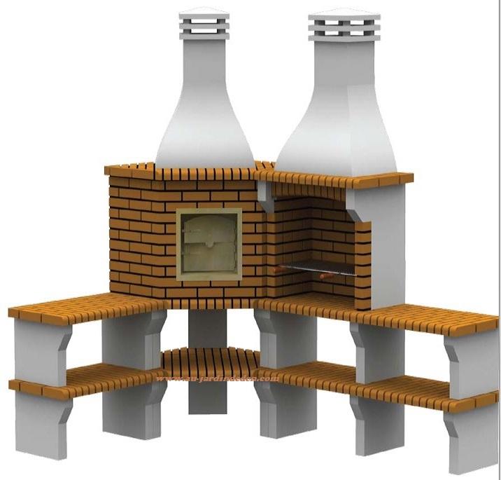 barbecue et four d angle en brique ff cfc 4a au jardin d 39 eden. Black Bedroom Furniture Sets. Home Design Ideas