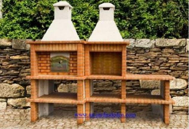 Barbecue d angle et four a pain en brique refractaire ludo for Barbecue d angle en brique