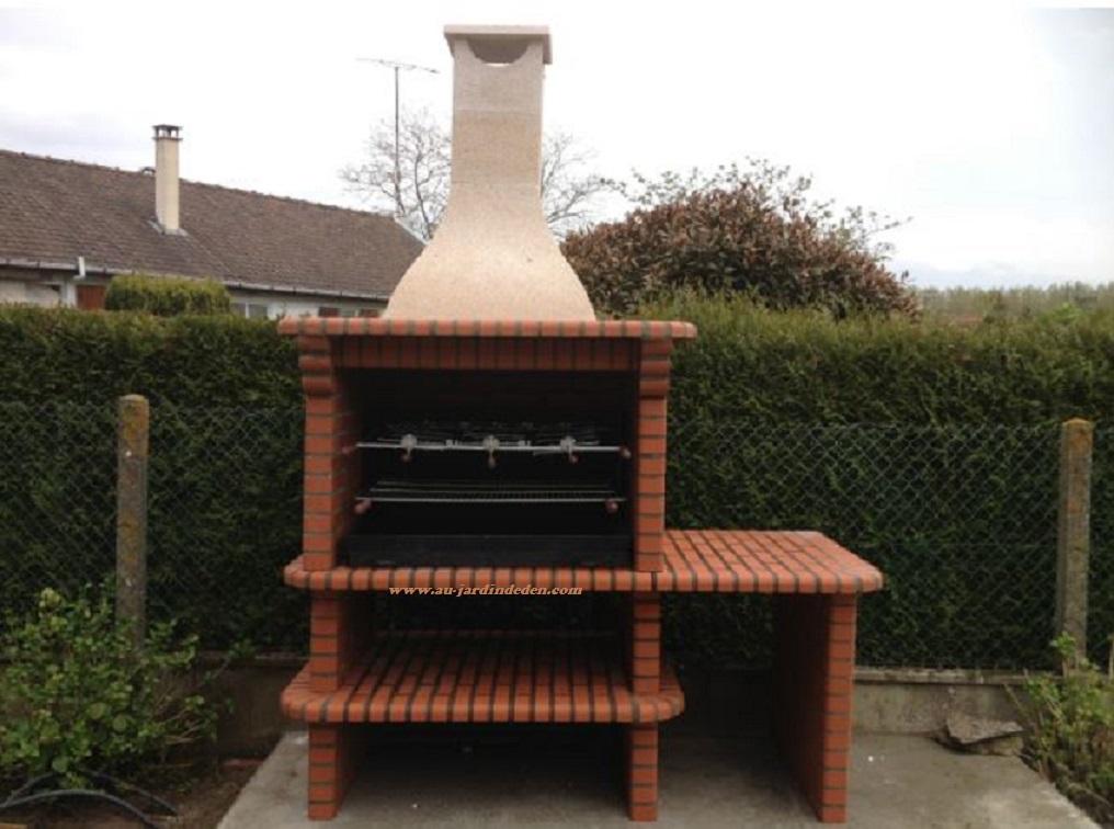 Barbecue en brique refractaire ludo 1250a au jardin d 39 eden - Barbecue en brique refractaire ...