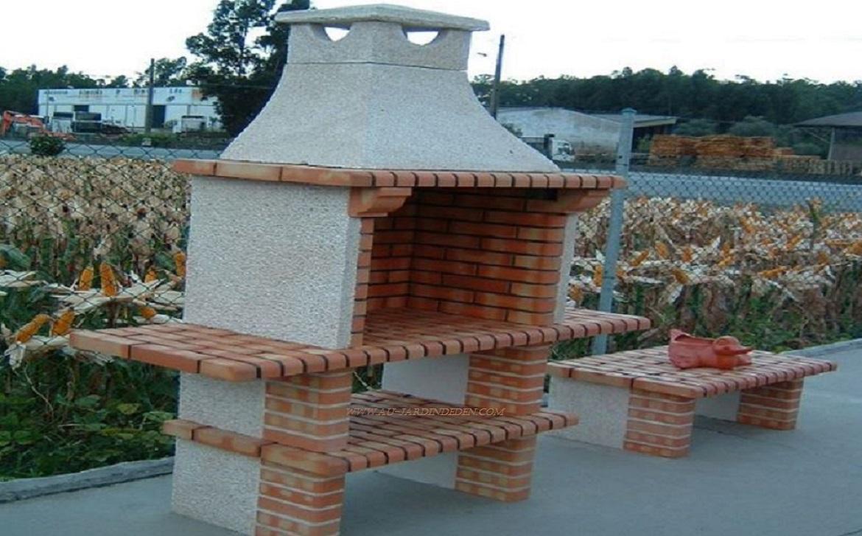 barbecue en pierre et brique ff 706a au jardin d 39 eden. Black Bedroom Furniture Sets. Home Design Ideas