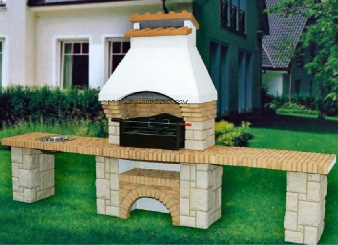 Au jardin d 39 eden vente et production de barbecues et fours for Barbecue exterieur en pierre