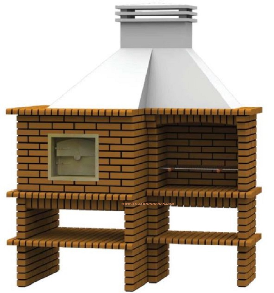 Barbecue et four en brique refractaire ffcfta au jardin for Barbecue en brique refractaire neuf