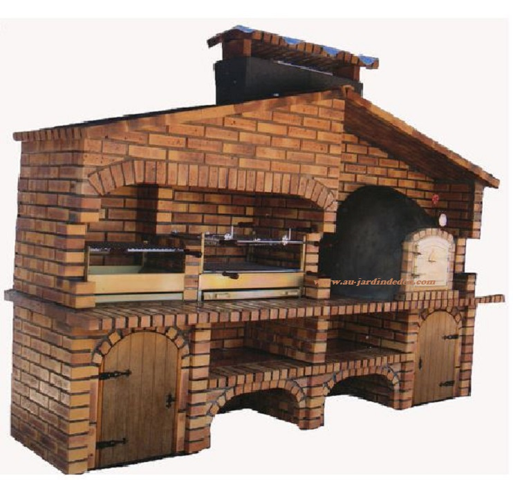 barbecue et four a pizza en brique leopard l j1651a au jardin d 39 eden. Black Bedroom Furniture Sets. Home Design Ideas