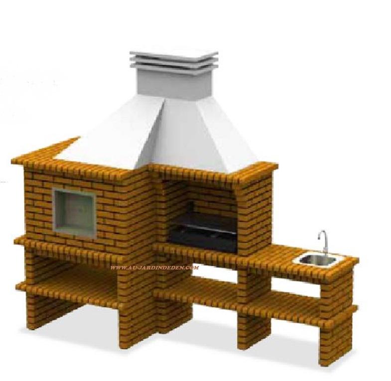 Barbecue et four a bois en brique refractaire ffcft100a for Barbecue en brique refractaire neuf