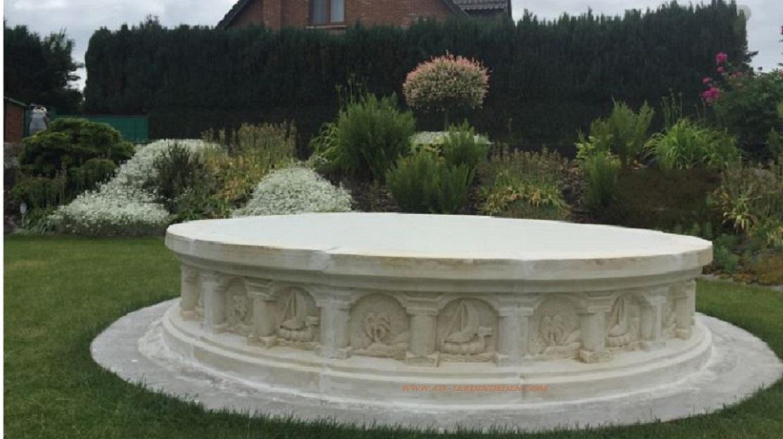Bassin en pierre reconstituee 285a au jardin d 39 eden - Bassin pierre prix boulogne billancourt ...