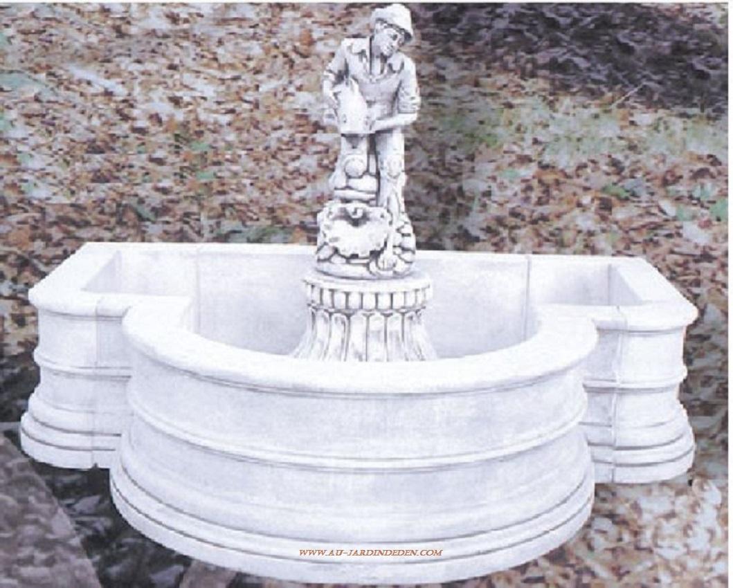 Fontaine de jardin en pierre le pecheur a au jardin d 39 eden - Fontaine de jardin en pierre reconstituee ...