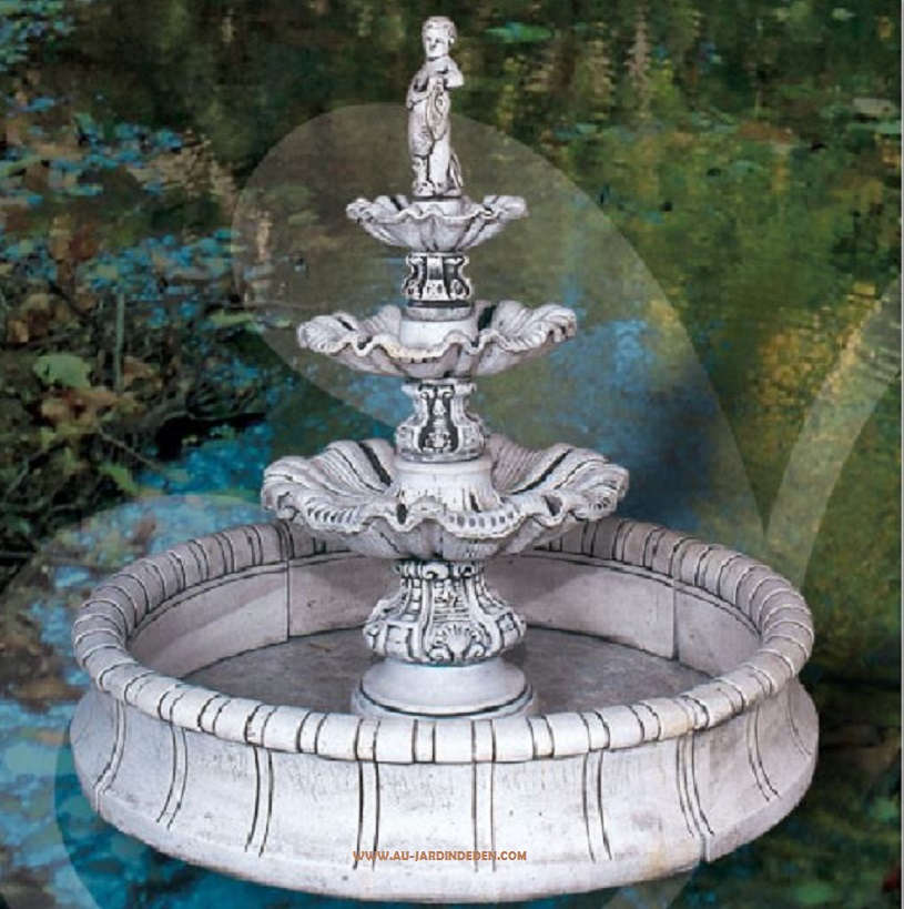 Fontaine de jardin en pierre grosseto a au jardin d 39 eden - Fontaine de jardin en pierre reconstituee ...