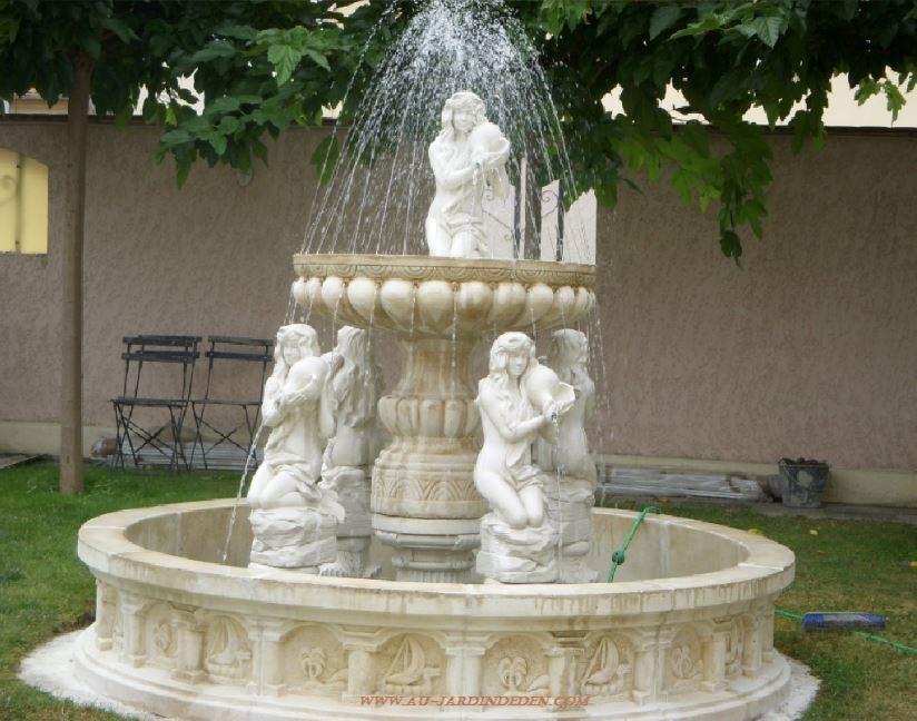 Fontaine exterieur en pierre 5 filles a au jardin d 39 eden - Fontaine d exterieur en pierre ...