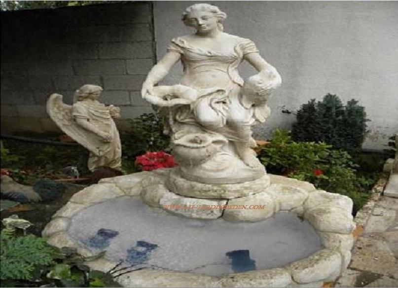 Fontaine exterieur en pierre joanna a au jardin d 39 eden - Fontaine d exterieur en pierre ...
