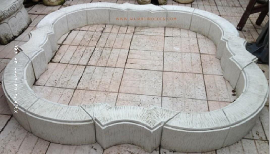 Bassin de jardin en pierre reconstituee venise a au for Bassins de jardin en pierre