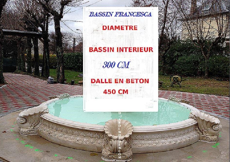 Bassin rond en pierre reconstitu e francesca a au jardin for Bassin rond pour jardin