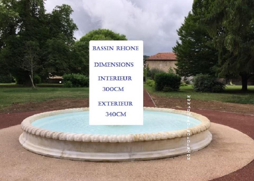 Bassin rond de jardin en pierre rhone a au jardin d 39 eden for Bassins de jardin en pierre