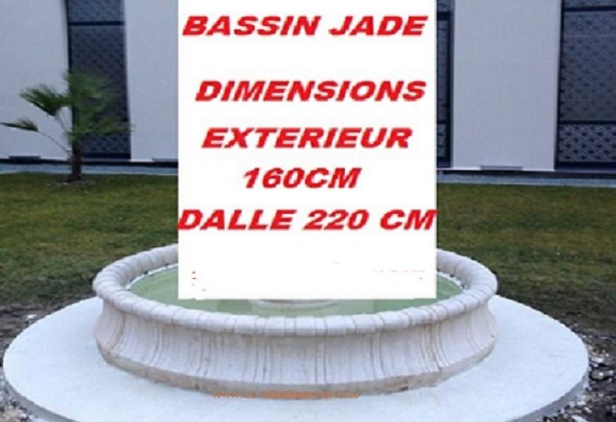 Bassin rond de jardin en pierre jade a au jardin d 39 eden for Bassins de jardin en pierre