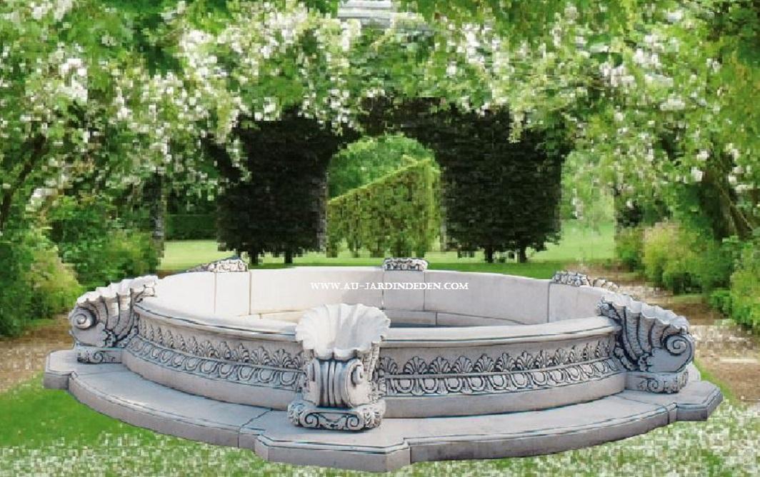 bassin en pierre reconstitu e napolitano a au jardin d 39 eden. Black Bedroom Furniture Sets. Home Design Ideas