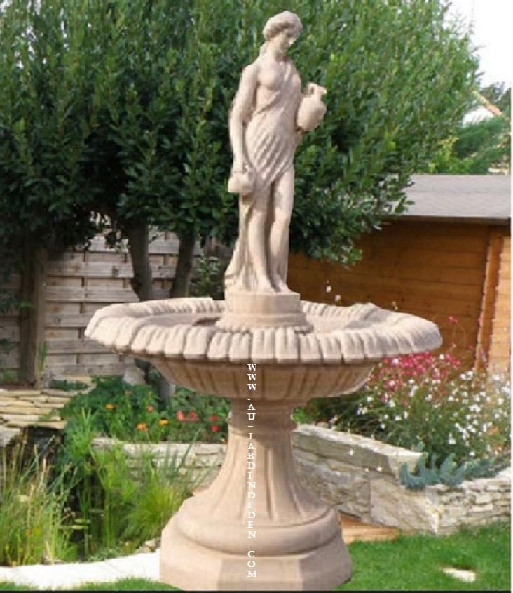 fontaine en pierre pour jardin jessica a au jardin d 39 eden. Black Bedroom Furniture Sets. Home Design Ideas
