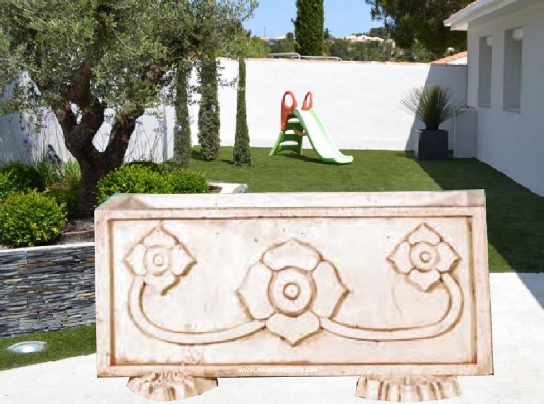 vases de jardin en pierre 2 tetes de lions au jardin d 39 eden. Black Bedroom Furniture Sets. Home Design Ideas