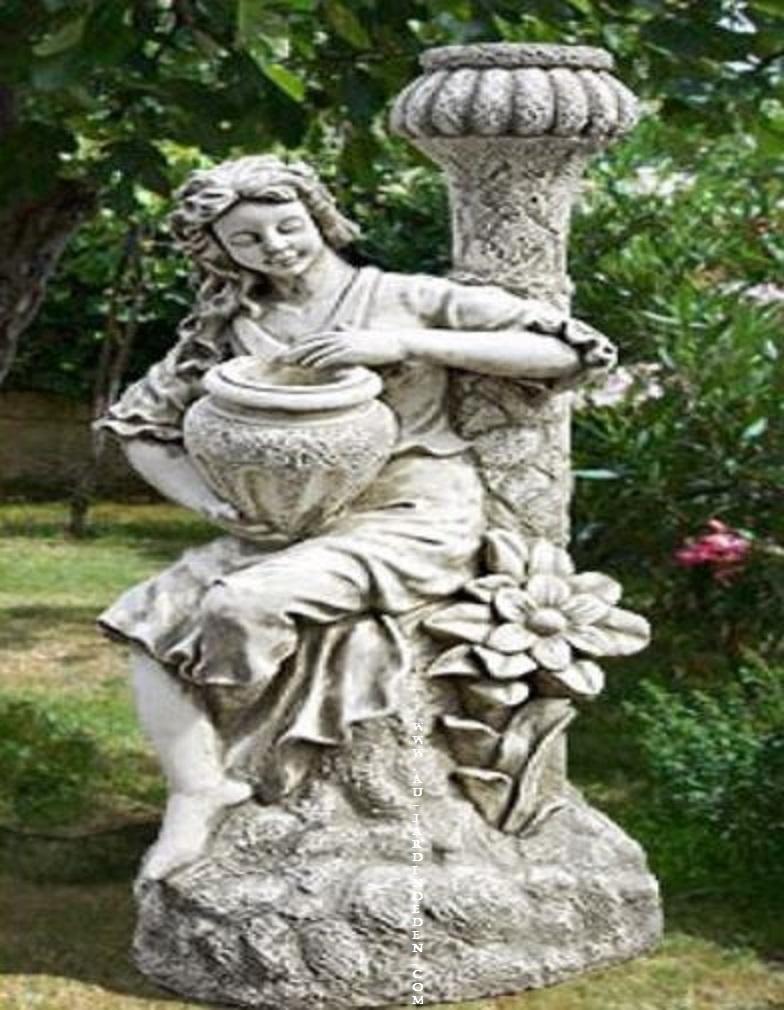 statue de jardin en pierre homen agee au jardin d 39 eden. Black Bedroom Furniture Sets. Home Design Ideas