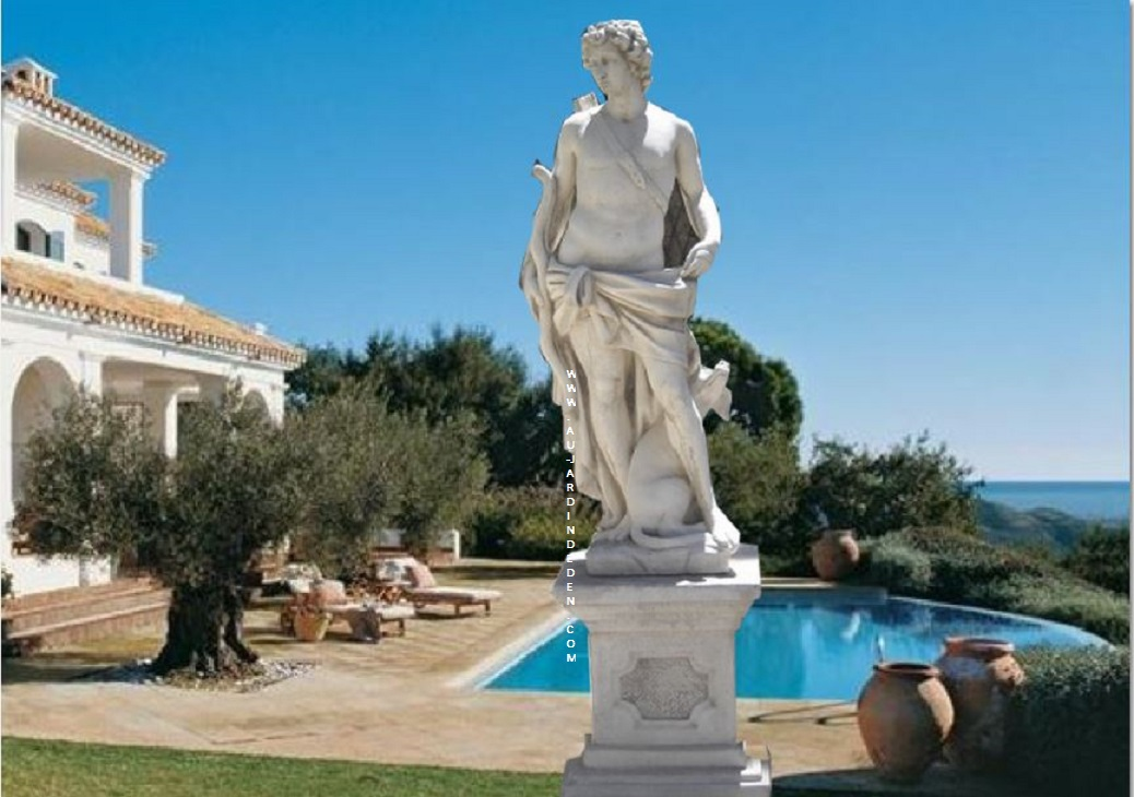 statue en pierre reconstituee rubiano avec base au jardin d 39 eden. Black Bedroom Furniture Sets. Home Design Ideas