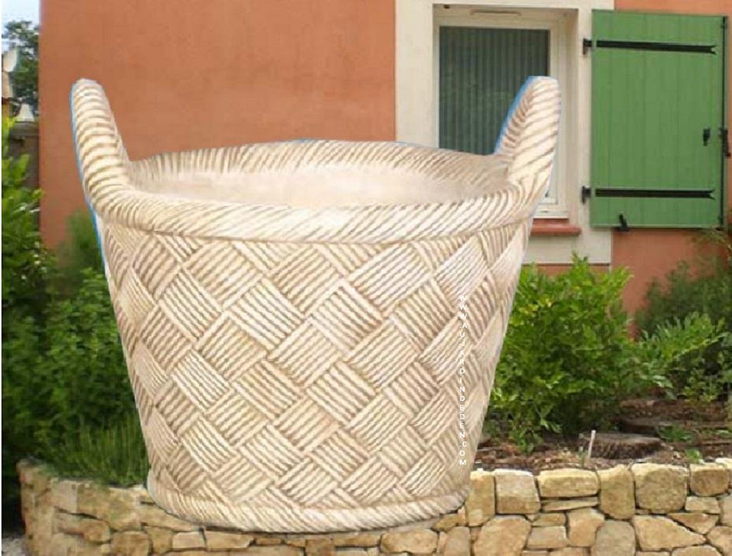 vases de jardin en pierre ff 243 au jardin d 39 eden. Black Bedroom Furniture Sets. Home Design Ideas