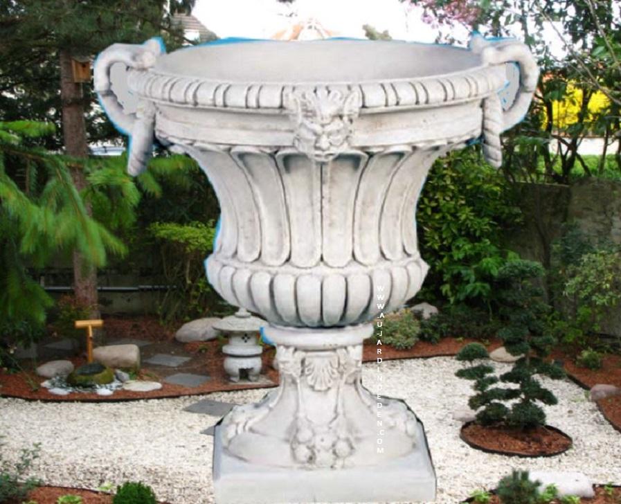 vase rond de jardin ff 262 au jardin d 39 eden. Black Bedroom Furniture Sets. Home Design Ideas