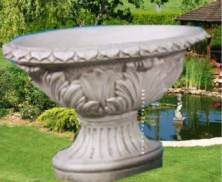 vase ovale en pierre ff250 au jardin d 39 eden. Black Bedroom Furniture Sets. Home Design Ideas