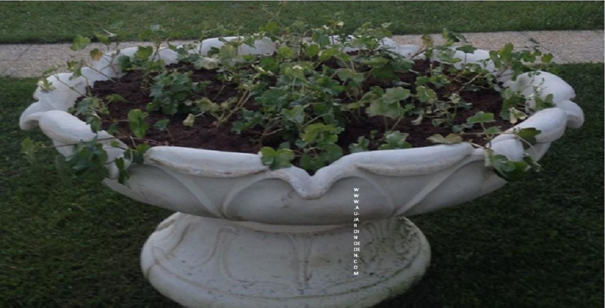 Vases 2 tetes en pierre de jardin aux 2 tetes au jardin - Vase en pierre jardin ...