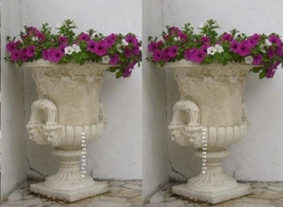 vases en pierre reconstituee ff 4 tetes au jardin d 39 eden. Black Bedroom Furniture Sets. Home Design Ideas