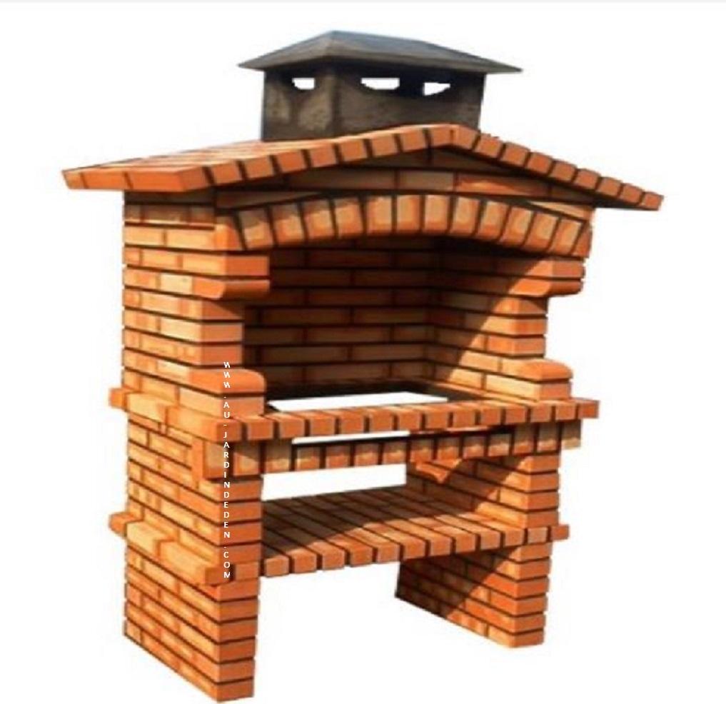 barbecue fixe exterieur en briques ff 265 a au jardin d 39 eden. Black Bedroom Furniture Sets. Home Design Ideas