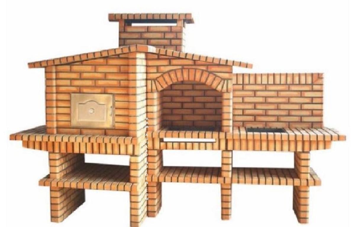 barbecue et four a bois evier inox ff 1093 a au jardin d 39 eden. Black Bedroom Furniture Sets. Home Design Ideas